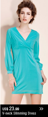V-neck Slimming Dress