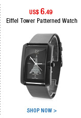 Eiffel Tower Patterned Watch