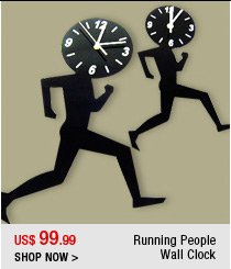 Running People Wall Clock
