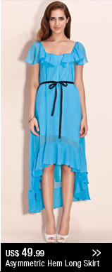 Asymmetric Hem Long Skirt