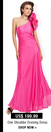 One Shoulder Evening Dress