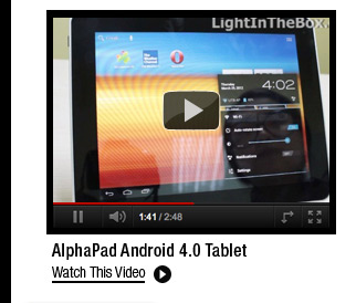 AlphaPad Android 4.0 Tablet