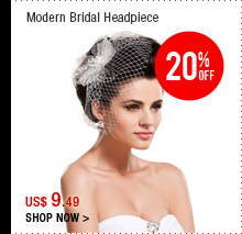 Modern Bridal Headpiece