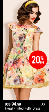 Floral Printed Puffy Dress