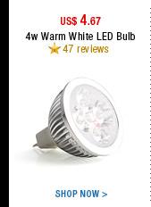 4w Warm White LED Bulb