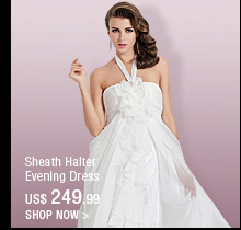 Sheath Halter Evening Dress