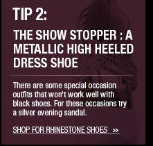 The Show Stopper: A Metallic High Heeled Dress Shoe