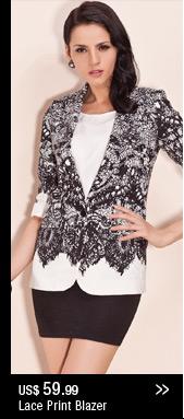 Lace Print Blazer