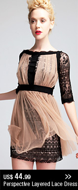 Perspective Layered Lace Dress