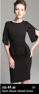 Open Sleeve Sheath Dress