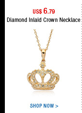 Diamond Inlaid Crown Necklace