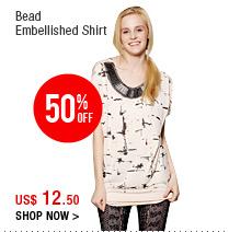 Bead Embellished Shirt