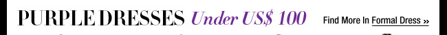 Purple Dresses Under US$ 100