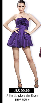 A-line Strapless Mini Dress