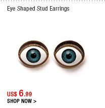 Eye Shaped Stud Earrings