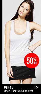 Open Back Neckline Vest
