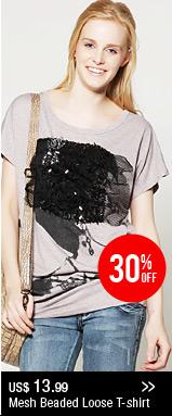 Mesh Beaded Loose T-shirt