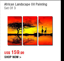 African Landscape Oil Painting