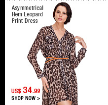 Asymmetrical Hem Leopard Print Dress