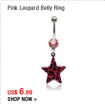Pink Leopard Belly Ring
