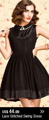Lace Stitched Swing Dress