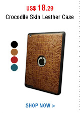 Crocodile Skin Leather Case