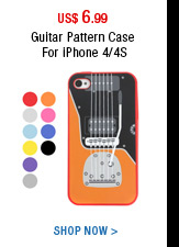 Guitar Pattern Case For iPhone 4/4S