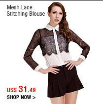 Mesh Lace Stitching Blouse