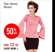 Flair Sleeve Blouse