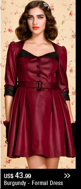 Burgundy - Formal Dress