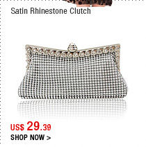 Satin Rhinestone Clutch