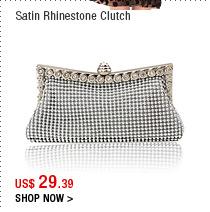 Satin Rhinestone Clutch
