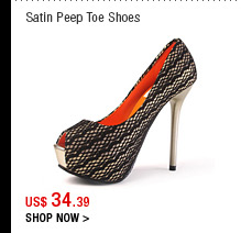 Satin Peep Toe Shoes