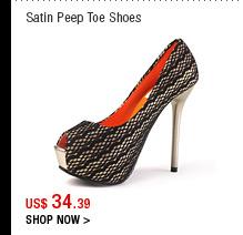 Satin Peep Toe Shoes