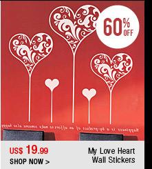 My Love Heart Wall Stickers