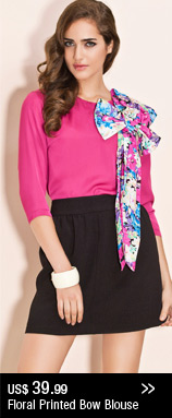 Floral Printed Bow Blouse