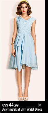 Asymmetrical Slim Waist Dress