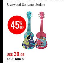 Basswood Soprano Ukulele