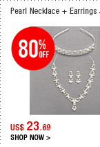 Pearl Necklace + Earrings Set