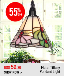 Floral Tiffany Pendant Light