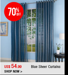 Blue Sheer Curtains