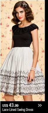 Lace Lined Swing Dress