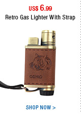 Retro Gas Lighter With Strap