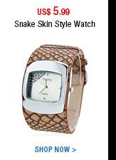 Snake Skin Style Watch