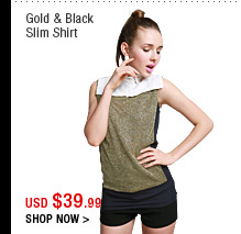 Gold & Black Slim Shirt