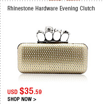 Rhinestone Hardware Evening Clutch