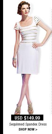 Sequinned Spandex Dress