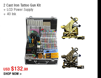 2 Cast Iron Tattoo Gun Kit