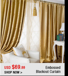 Embossed Blackout Curtain