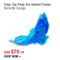 Clear Top Peep Toe Heeled Pumps